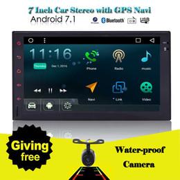2 din yok Araba dvd Stereo EinCar 7 '' Android 7.1 Çift din Dört Çekirdekli 2din FM / AM Radyo GPS Navigasyon Ana ünite Bluetooth + kamera nereden