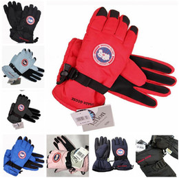Wholesale Gloves Wholesalers - Canada Unisex Windproof Gloves Big Flower Rabbit Snowflake Gloves Outdoor Winter Keep Warm Mittens For Women Mens Extra warm glove