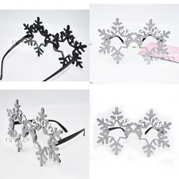 Wholesale Glass Balls Decorations - Creative Spectacle Frame Halloween Prop Snow Snowflake Christmas Party Favor Funny Ball Glasses Silvery Golden Powder Special 8 5sfa V