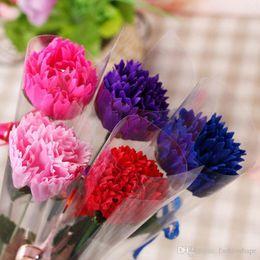 2019 großhandel künstliche blumen nelken Großhandel Rose Blume für Valentinstag Carnation Soap Blume künstliche Blume für Muttertag Geburtstagsgeschenk günstig großhandel künstliche blumen nelken