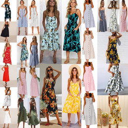 1ab461100c46 29 Styles Women s Summer Boho Casual Long Maxi Evening Party Cocktail Beach  Dress Sundress Print Flower Sleeveless Sexy Backless Strap Dress