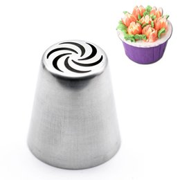 Wholesale Cake Icing Decor - Russian Tulip Icing Piping Nozzles Cake Decoration Decor Baking Tool #2
