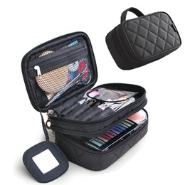 travel makeup brushes Promo Codes - Women Cosmetic Bags Makeup Case Travel Toiletry Bag Nylon Waterproof Professional Beauty Storage Brush Organizer Case