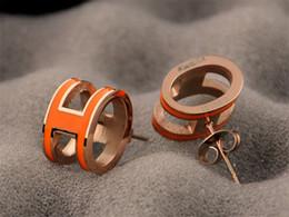 Boucles d'oreilles de l'usine de design en Ligne-Boucles d'oreilles lettre de luxe