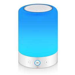 Canada Lampe de chevet tactile avec haut-parleur Bluetooth, lampe de table dimmable blanc chaud, couleur changeante du haut-parleur LED, lumière d'ambiance, veilleuse Offre