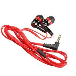 Auriculares planos rojos online-Red Flat 3.5mm Aux Wired Auricular Auricular En Auriculares Auriculares universales para teléfonos móviles Computadoras MP3 MP4 CD player