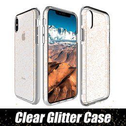 Wholesale Wholesale Fashion Phone Cases - Fashion Transparent Hybrid Glitter phone cases for iphone x 7 8 plus for Samsung s9 plus LG G5 cellphone case