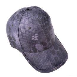 Ventiladores de parasol online-Python camuflaje camuflaje táctico gorra de béisbol hombres mujeres tapa de gorra hombres visera parasol transpirable