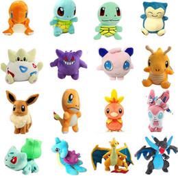 charmander spielzeug Rabatt Pikachu Plüschtiere Puppen Squirtle Charmander Bulbasaur Pikachu Plüsch Cartoon Kuscheltiere weiches Weihnachtsgeschenk Spielzeug