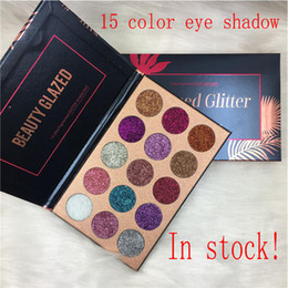 Wholesale make up shimmering eye shadow - Beauty Glazed Glitter Injections Pressed Glitters Eyeshadow Diamond Rainbow Make Up Cosmetic 15 Colors Eye Shadow Magnet Palette
