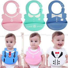 baberos de silicona Rebajas Baby Kids Silicone Dining Bibs Burp plegable Delantal Baby bib alimentación bib collar lindo baberos estereoscópicos Safe KSF07