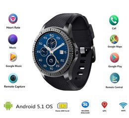 Wholesale S3 Wifi - smart watch clock GW10D support Bluetooth WiFi 2G 3G Android 5.1 Fitness Tracker Heart Rate smartwatch PK Samsung Gear S3