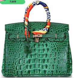 2019 bolsas genuíno crocodilo atacado Saco de ombro tote de crocodilo 3D emboss avestruz atacado mulheres bolsa tote lady bolsa IT CA FranceTogo sacos de couro genuíno Paris EUA EUR bolsas genuíno crocodilo atacado barato