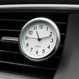Wholesale interior decoration accessories - Car Ornament Automobiles Interior Decoration Clock Auto Watch Automotive Vents Clip Air Freshener Clock In Car Accessories Gifts