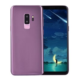 Wholesale lte phones - Purple Goophone 9 Plus 4G LTE Octa Core Face ID 6.3 inch 1440*2560 Android 7.0 1GB 16GB+32GB Iris Back Fingerprint 13.0MP Camera Smart Phone