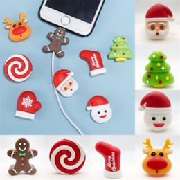 2019 telefonhalter Weihnachten kabel beißen cartoon telefon kabel usb datenleitung schutz weihnachten schneemann beißen handyhalter veranstalter modell für telefon rabatt telefonhalter