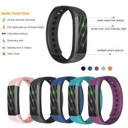 Wholesale Pulse Vibration - ID115Lite ID115 Lite Smart Bracelet Fitness Tracker Step Counter Activity Monitor Band Alarm Clock Vibration Wristband Freeshipping