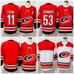 2018 Carolina Hurricanes  11 Staal  53 Jeff Skinner Blank Hockey Jerseys  All Stiched Free Shipping carolina hurricane jersey on sale 6233d119f