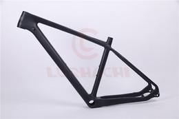 bicicleta de fibra de carbono preta fosca Desconto LURHACHI CMF20 27.5er MTB Bicicleta Quadro De Carbono De Carbono MTB Quadro 27.5er Mountain Frame Bicicleta + Através Axel + Headset + Gancho Traseiro