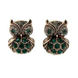 Wholesale antique jewelry earing - antique Owl Earrings Cute Diamond Earring Wild Cool earing vintage High end earings Jewelry for Girl Women womens Gift Wholesale