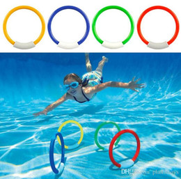 Wholesale Geography Toys - Child Kid Diving Ring Water Toys Underwater Swimming Pool Accessories Diving Buoys Four Loaded Throwing Toys 4 Pcs Pack DHL Free Shipping