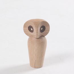 2020 eulenbüro Zakka Figur Kunst Office Home Kollektion Business Geschenk-Dekor aus Holz Symbol Owl Puppe Crafts Geburtstags-Geschenke Kreative Handwerk Schmuck rabatt eulenbüro