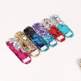 Wholesale Wholesale Sequins China - Reversible Sequin Bracelets Bling Memaid Cuff Bangle Glitter Wristband Party favors Double Colors 13 Designs Wholesale China YW319-4
