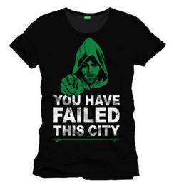 2019 verde de d camiseta Arrow Green Arrow Você Falhou Esta Cidade T-Shirt Homme / Man Taille / Tamanho L desconto verde de d camiseta