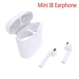 Wholesale Iphone Pods - New I8 Mini Wireless Bluetooth earphones TWS Air Pods Bluetooth Headset True Wireless Sport Earphone Headphone For Iphone X 8