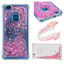 Wholesale chinese float - Quicksand Moving Bling Glitter Floating Dynamic Liquid Transparent Case Drop Proof Shell for Huawei P10 Lite P8 lite 2017 Mate 10 Pro Lite