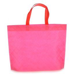 Сумочки из ткани для дизайна онлайн-Reusable Folding Handbag Shopping Bag Reusable Cloth Fabric Grocery Packing Recyclable Hight Simple Design Healthy Tote Handbag