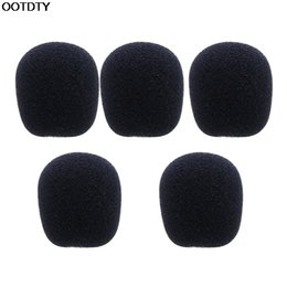 microphone sponges Promo Codes - Wholesale-5PCS Black Microphone Headset Foam Sponge Windscreen Mic Cover - L060 New hot