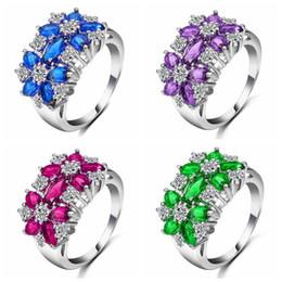 Cz 925 anillo de porcelana online-Joyas de moda China Joyería al por mayor de oro blanco Cz Anillo de compromiso plateado 925