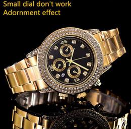 par de vestir Rebajas 2018 relogio masculino para hombre relojes de lujo diseñador de la moda Negro Dial Calendario oro Pulsera Broche plegable Maestro regalos parejas