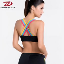 df88e89b2e5a9 DutteDutta Sexy Push Up Sports Bra Top Women Fitness Vest Running Quick Dry  Strappy Athletic Yoga Bras Workout Gym Brassiere