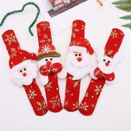 2019 rolos de carpete por atacado Hot Bronzing presentes de natal das crianças brinquedos de natal pulseiras de papai noel clap anel boneco de neve elk clap anel t7i113