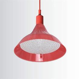 Luce pendente registrabile online-Seafood supermercato carne fredda di maiale cotta ciondolo luce 25 Potenza LED dolce Negozi luce regolabile Lampada LED