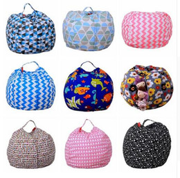Wholesale Flat Food - Storage Stuffed Animal Storage Bean Bag Chair Portable Kids Toy Storage Bag & Play Mat Clothes Home Organizer 43 Colors DHL Free Shipping