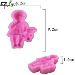 Wholesale Wholesale Baby Soap - 3D Sleep Baby Handmade Soap Mold Chocolate Cake Decorating Tools DIY Cookies Fondant Silicone Baby Soap Mold CHW2421