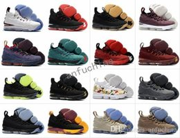 Wholesale Rose Totem - 2018 new James 15 Ashes Cavs Rose Pink Ghost White Equality Basketball Shoes 15s Sneakers High Cut Mens Wolf Grey Flowers Casual Shoes