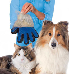 Wholesale cleaning cat hair - Pet Cleaning Brush Glove Pet Dog Supplies pet Cat dog brush Effective massage gloves hair cleaning comb A65