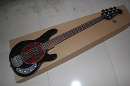 Wholesale Electric Guitar Musicman - Free Shipping Hot Selling Ernie Ball Musicman Music Man Sting Ray 5 Strings 9V Active Pickup Black Electric Guitar