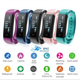 Wholesale Watch Multicolor - Smart Bluetooth Bracelet Sports Monitor Smart Watch Step Calorie Sleep Monitor Information Push Smart Bracelet Christmas Gift