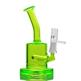 Wholesale Recycling Oil Filter - Newest Colored Mini Glass Bongs Water Pipes Recycle Oil Rigs Dab Water Bongs 10mm Joint water filter pitcher pipe recycler