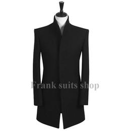 Wholesale Custom Trench Coats - Custom made 2017 New design Autumn and winter New brand men's clothing woolen slim trench coat casual coat