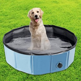 Wholesale blue dog beds - Dog Pool Dog Pet Summer Supplies Dog Bathing Pool And Cool Play Basin Sturdy And Easy To Store