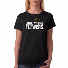 c5a07f75c195f7 Das T-Stück der Frauen Prinnt Frauen The Walk Dead Blick auf das Blumen-T- Shirt Frauen-T-Shirt Billig Wholesale Femme Harajuku Funny Tops Tee  preiswerte ...