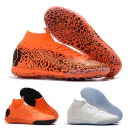 botas cristianas ronaldo naranja Rebajas 2019 zapatos de interior para hombre Mujer Niños CR7 botas de fútbol Mercurial Superfly VI KJ 360 Elite IC TF Fútbol Tacos de fútbol 39-45