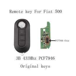 Botones de tecla fiat online-434MHz 3 Botones Keyless sin cortar tirón remoto Key Fob PCF7946 viruta adecuados para Fiat 500 Grande Punto 2010-2017 KEY_11O