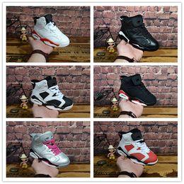 brand new 5823e dd751 nike air jordan aj6 11 13 Enfants chaussures Basketball Chaussures En Gros  Nouveau 1 espace jam 6 11 s 13 Sneakers enfants Sport Course fille garçon  ...
